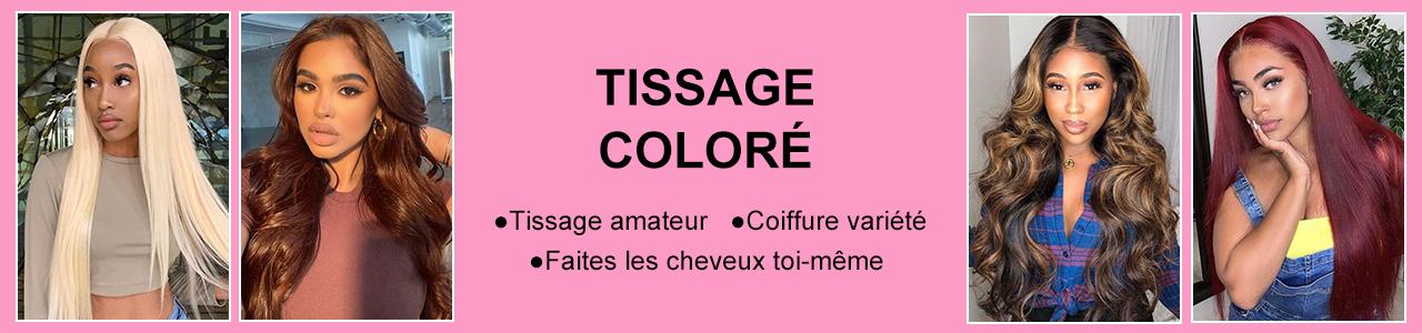 Tissage Cheveux Coloré