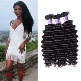 UNice Hair Kysiss Series Quality 3 Bundles Deep Wave Human Hair With Lace Frontal Closure
