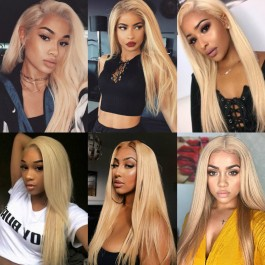 UNice Hair 613 Blonde Virgin Human Hair Extension Bundles 10-24 Inch 3PCS Straight Hair