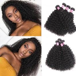 UNice Hair Icenu Series Jerry Curly Hair Products 4 Bundles Virgin Human Hair