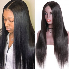 UNice Hair Bettyou Wig Series 100% Virgin Hair Soft Long Straight Wig Transparent Lace And Medium Brown Lace Cap With Baby Hair Density 150% And 180%