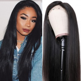 UNice Hair Bettyou Wig Series 100% Human Hair Soft Long Straight 360 Lace Cap Wig Realistic Hairline 12-28 Inches