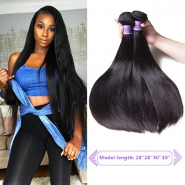 UNice Hair Kysiss Series 4pcs Malaysian Straight Hair 8A Grade Virgin Human Hair Extension