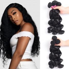 UNice Hair Icenu Series 3 Bundles Loose Wave Hair and Closure 100 Virgin Human Hair