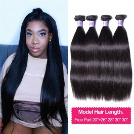 UNice Hair 8A Kysiss Series Malaysian Virgin Hair 4 Bundles With Closure