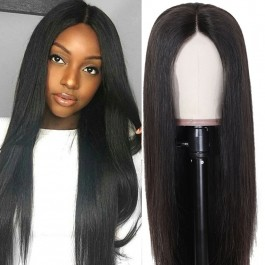 UNice Hair Bettyou Wig Series 100% Virgin Hair Soft Long Straight Wig Transparent Lace Lace Cap With Baby Hair Density 150% And 180%