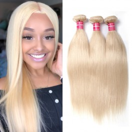 UNice Hair 613 Blonde Virgin Human Hair Extension Bundles 16-24 Inch 3PCS Straight Hair