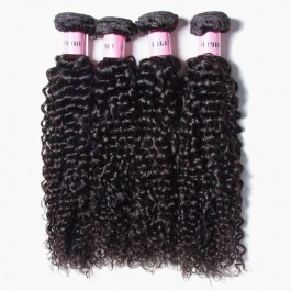 UNice Hair Icenu Series Jerry Curly Hair Products 4 Bundles Virgin Human Hair