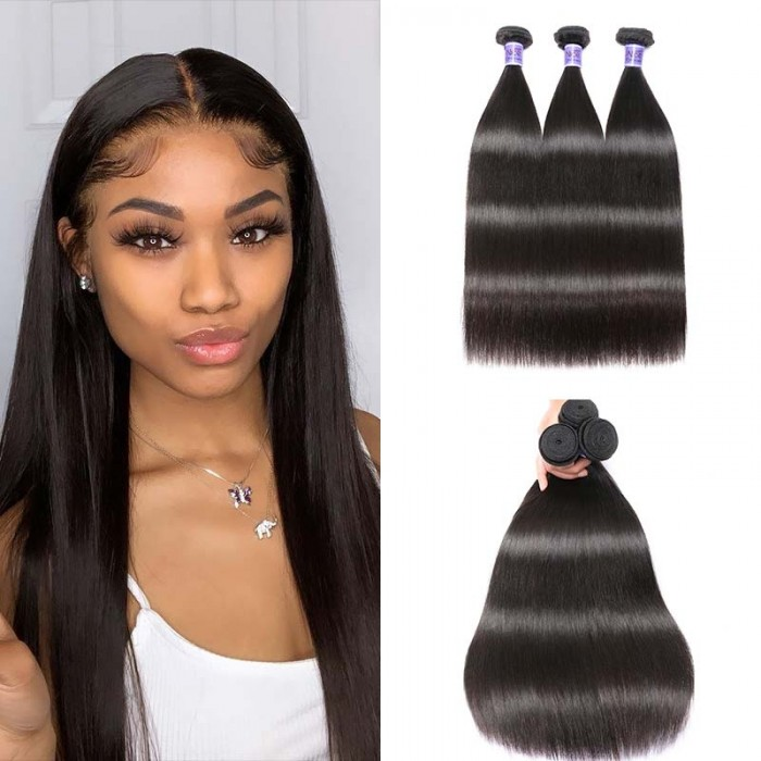 UNice Hair Kysiss Series Brazilian Hair 3pcs Virgin+ Straight Human Hair Extension