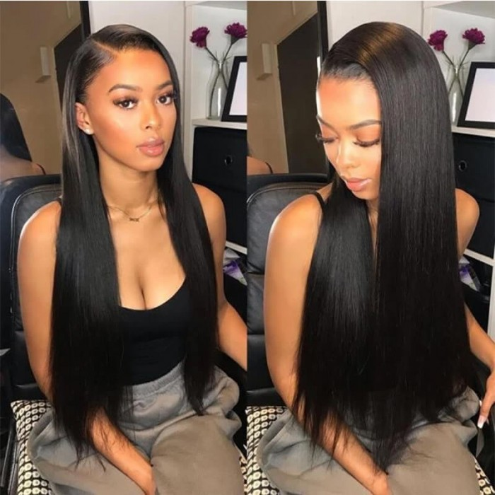 Unice Straight Full Lace Human Hair Wigs 150% Density Remy Hair Wig For African American Women Bettyou Series