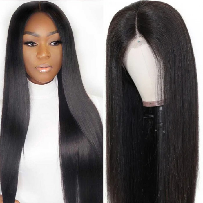 UNice Hair Bettyou Wig Series 100% Human Hair Soft Long Straight 360 Lace Cap Wig Realistic Hairline