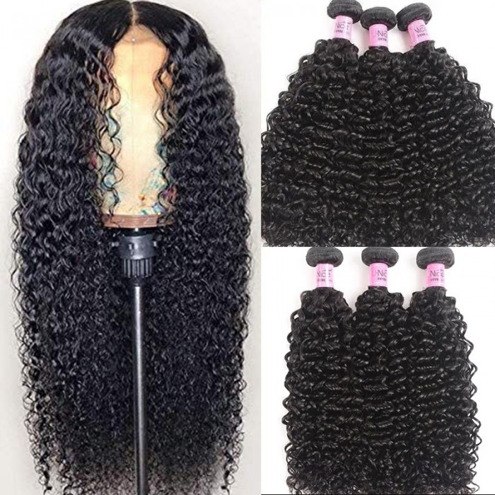 UNice Hair Virgin Human Hair 3pcs/pack Virgin Jerry Curly Wave Hair