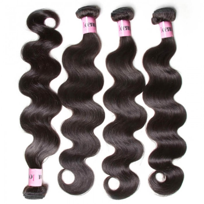 UNice Hair Icenu Series Hair 4Pcs/pack Peruvian Body Wave Virgin Human Hair