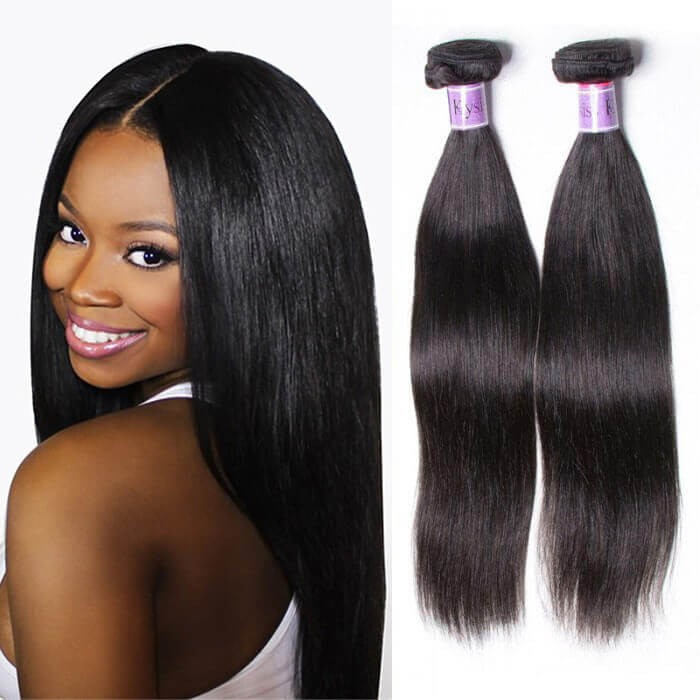 UNice Hair Kysiss Series Peruvian Straight Hair 3 Bundles deals with Lace closure