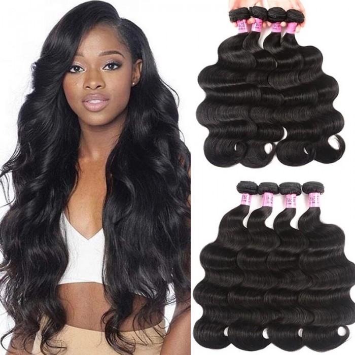 UNice Hair Hair 4Pcs/pack Peruvian Body Wave Virgin Human Hair