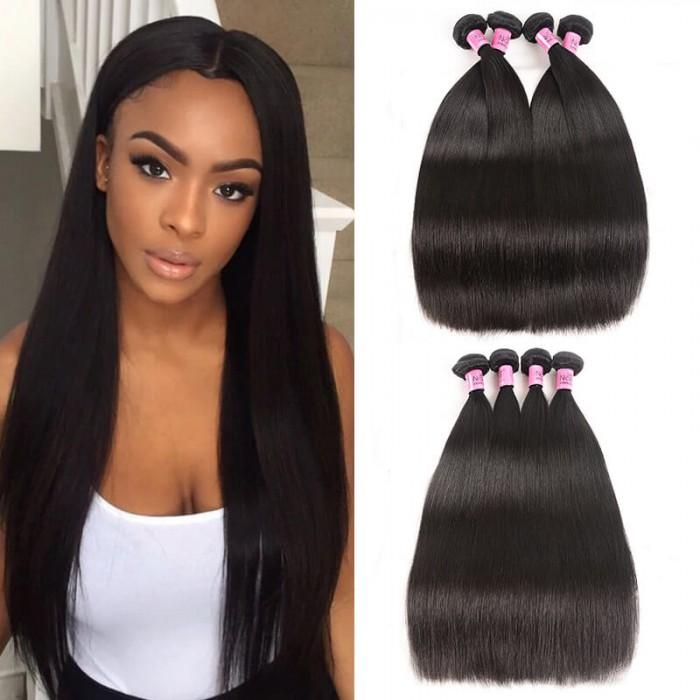 UNice Hair Icenu Series 4 Bundles Brazilian Virgin Straight Hair Weaves