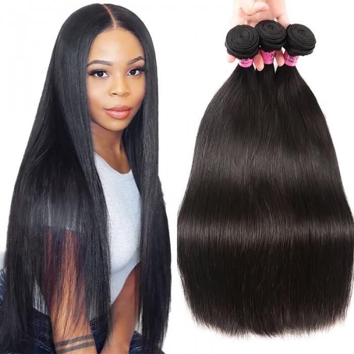 UNice Hair Icenu Series 3 Bundles Bone Straight Malaysian Human Hair Weaving