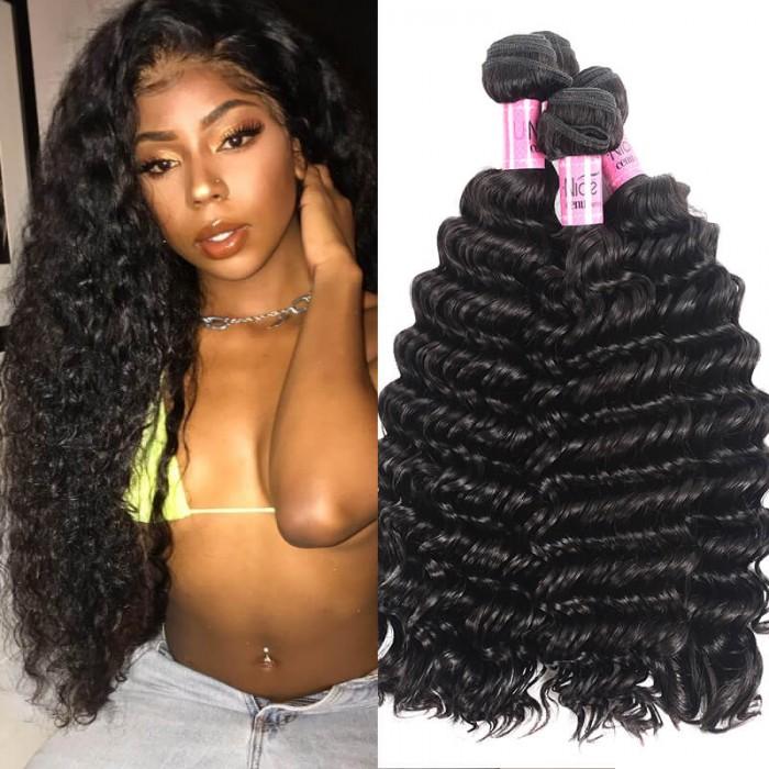 UNice Hair Icenu Series 3pcs/pack Deep Wave Brazilian Human Hair Weave