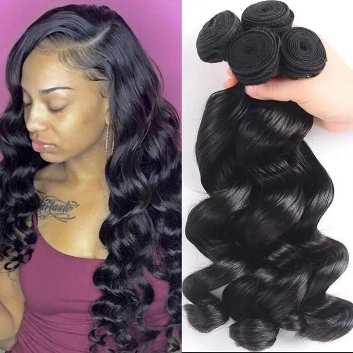 UNice Hair Hair 4 Bundles Malaysian Loose Wave Virgin Hair