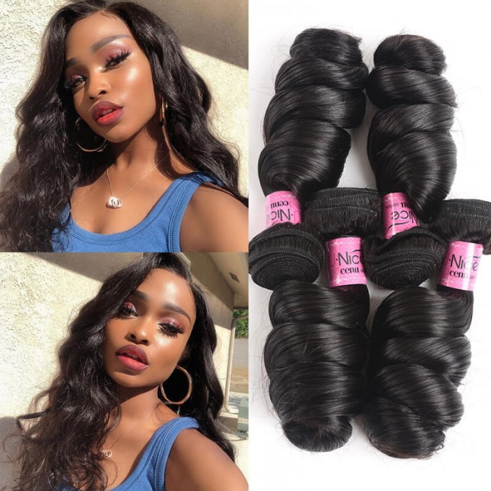 UNice Hair Icenu Series 4Pcs/pack Indian Virgin Hair Loose Wave