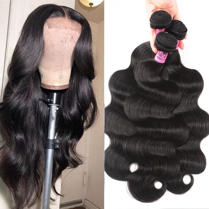UNice Hair Body wave 3 Bundles 100% Human Virgin Hair