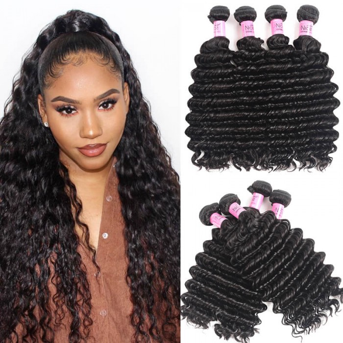 UNice Hair Icenu Series Hair 4 Bundles Unprocessed Virgin Hair Wholesale Deep Wave Hair