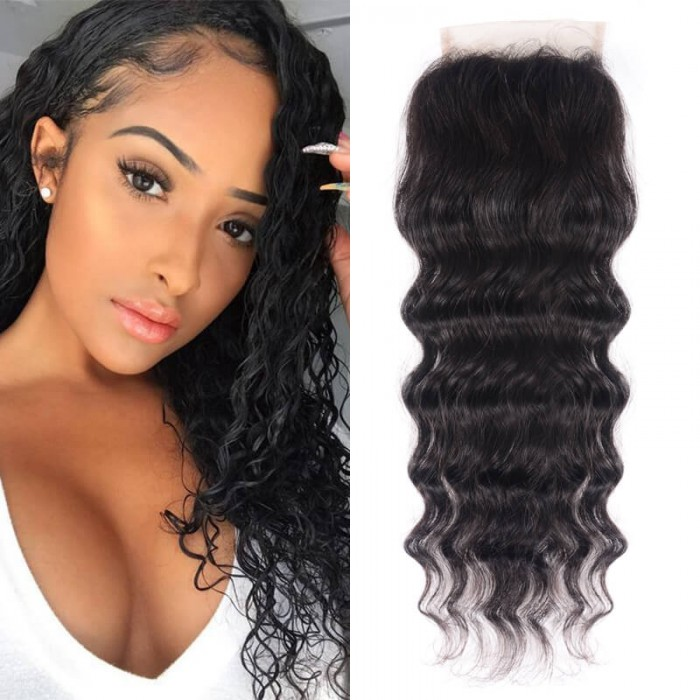 UNice New Arrival Free Part Natural Wave Hair Lace Closure