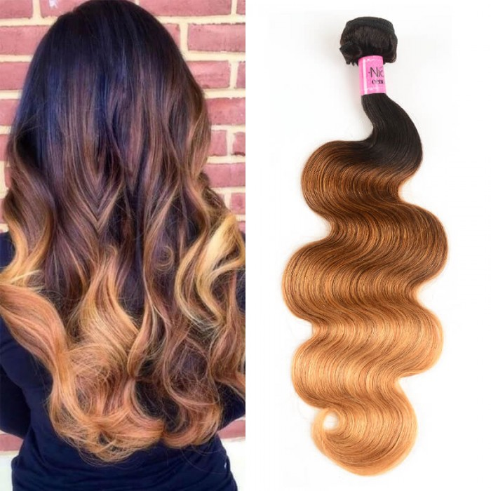 Icenu Series Body Wave Virgin Hair 1 Bundle Unprocessed Ombre Human Hair Wave