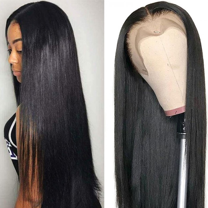 France Uniquement UNice Straight Human Hair Wigs Middle Part Lace Wigs Pre Plucked Natural Hairline Long Wig Bettyou Series