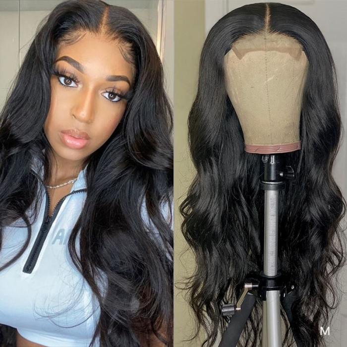 Black Friday Pre-sale UNice Body Wave Wig Lace Part Wig 150% Density Middle Part With Baby Hair Realistic Human Hair Wigs Bettyou Series