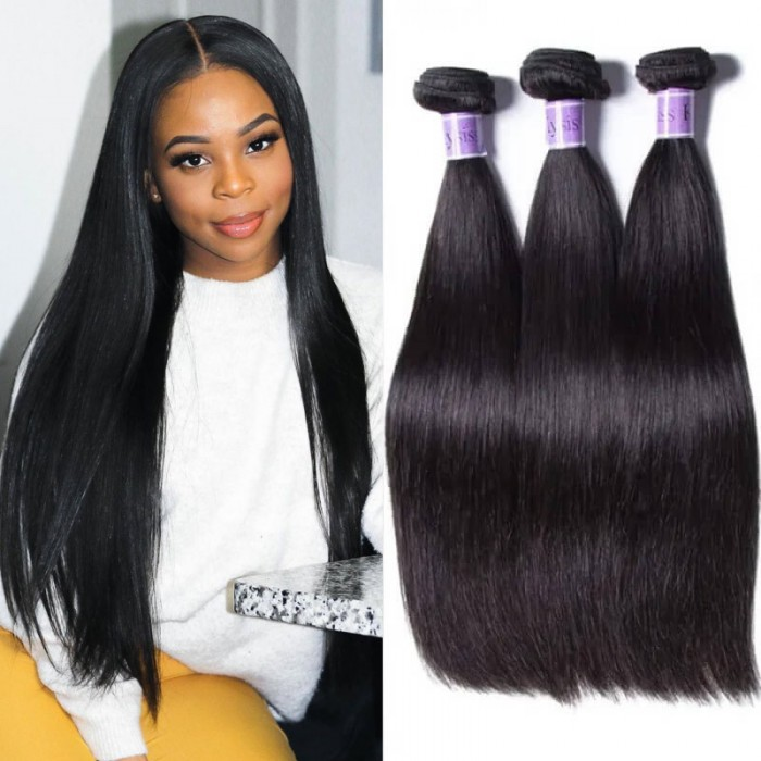 UNice Hair Kysiss Series 3pcs/pack Malaysian Straight Virgin Human Hair Weaves