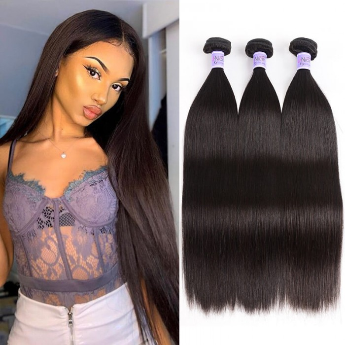 UNice Hair Kysiss Series 3 Bundles Of Indian Straight Hair 100% Virgin Hair Weave