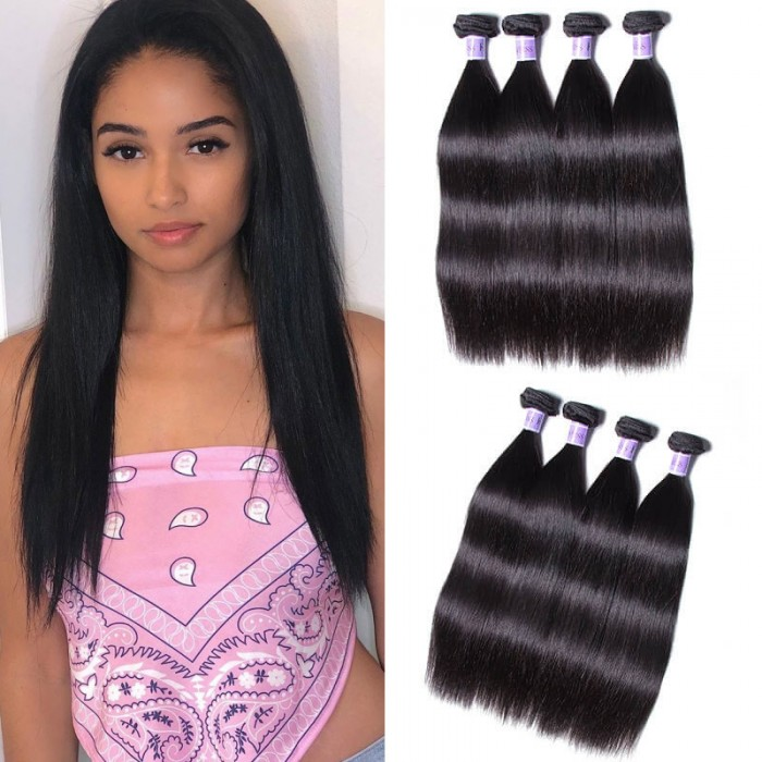 UNice Hair Kysiss Series Selling Unprocessed Straight Indian Virgin Hair 4pcs/pack