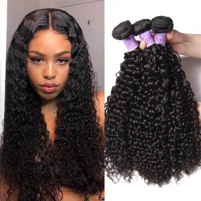 UNice Hair Kysiss Series Good Quality 3 Bundles Human Virgin Hair Jerry Curly Hair