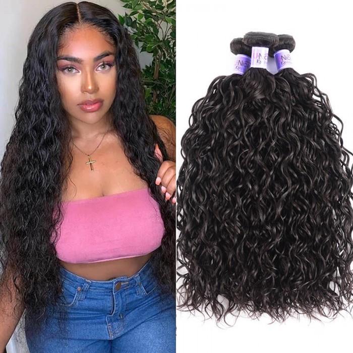 UNice Hair Kysiss Series Indian Water Wave 100% Virgin Human Hair 3 Bundles