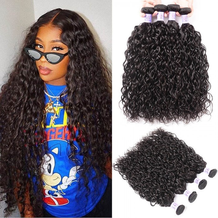 UNice Hair Kysiss Series Virgin+ Peruvian Water Wave 4 Pcs/pack Products