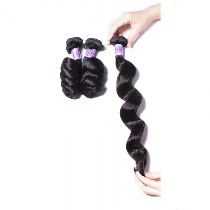 UNice-Kysiss Indian 8A Loose Wave Vrigin Hair 3 Pcs/lot