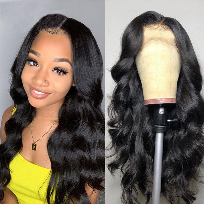 FLASH DEAL: 13x6 Lace Front Body Wave Wigs 150% Density for African American Women Pre Plucked Natural Hair Wigs Bettyou Series