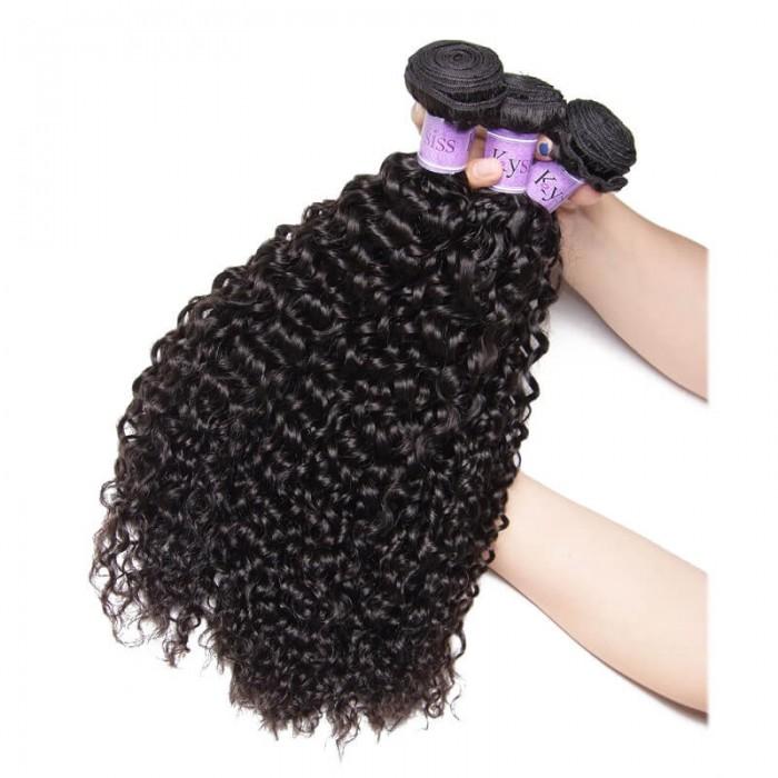 UNice-Kysiss Good Quality 3 Bundles Human Virgin Hair Cheap Jerry Curly Hair