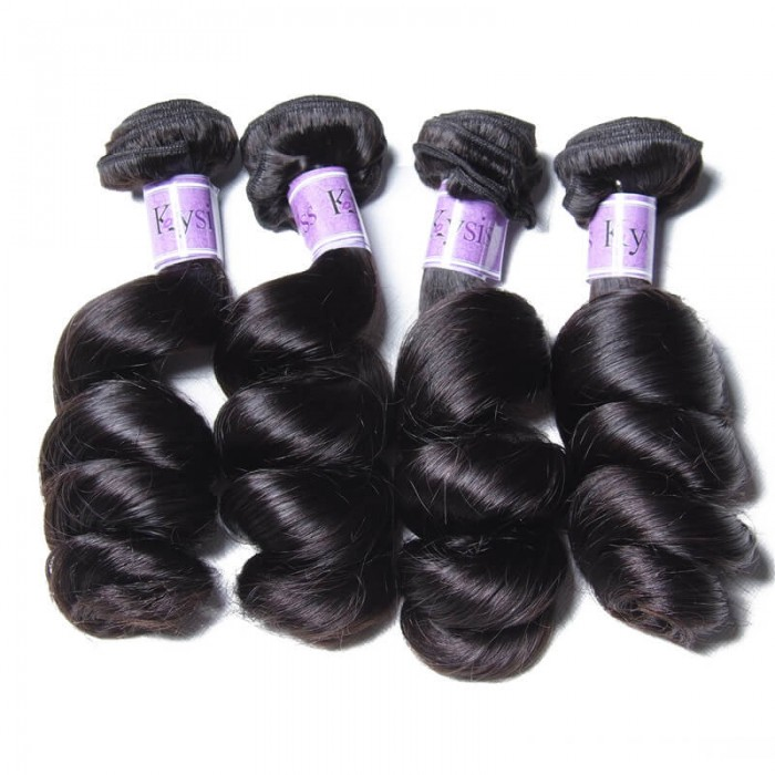 UNice-Kysiss Hair 4Pcs/pack Indian Loose Wave Human Hair Extensions