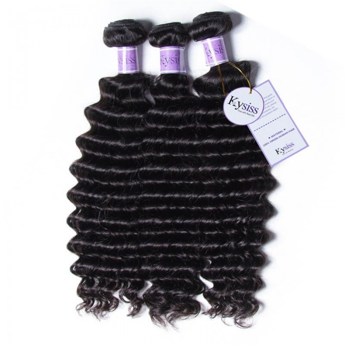 UNice-Kysiss 3pcs/pack Malaysian Deep Wave Hair Extension