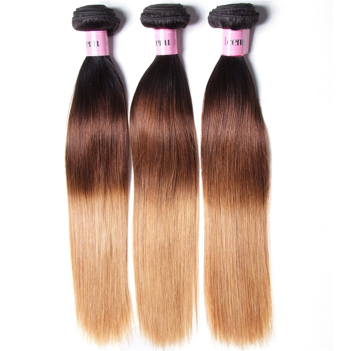 UNice Hair Icenu Series 3 Bundles Brazilian Ombre Straight Human Virgin Hair