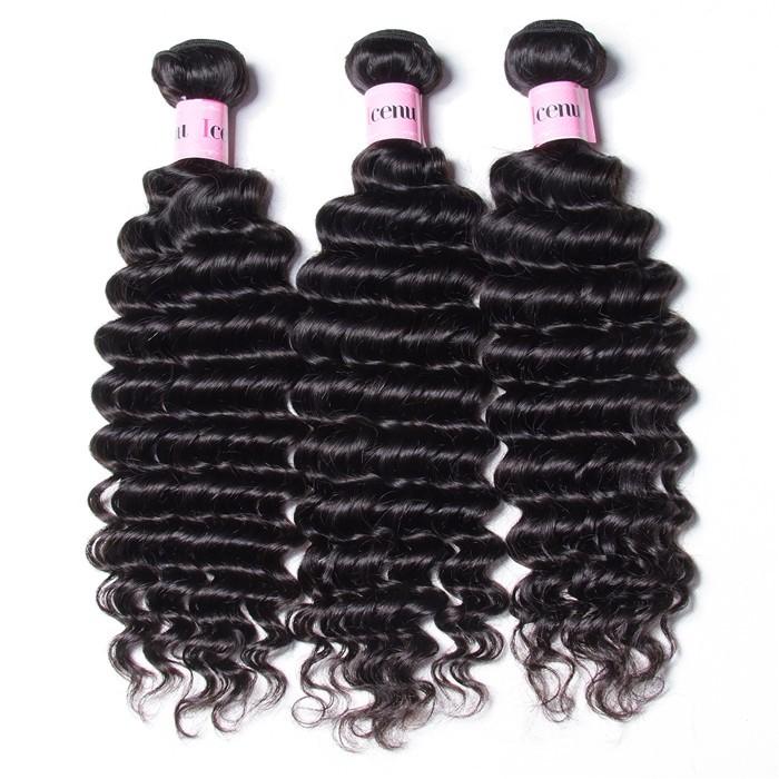 UNice Hair Icenu Series Cheap Malaysian Hair Weaving 12-26 Inches 3pcs/Lot Deep Wave