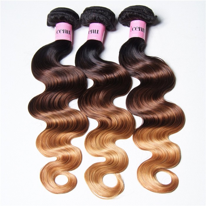 UNice Hair Icenu Series Hair Products Ombre Body Wave Virgin Hair 3 Bundles