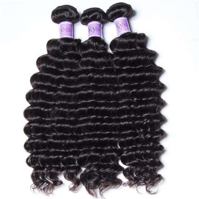 UNice-Kysiss 3pcs/pack Peruvian Deep Human Hair Weaves