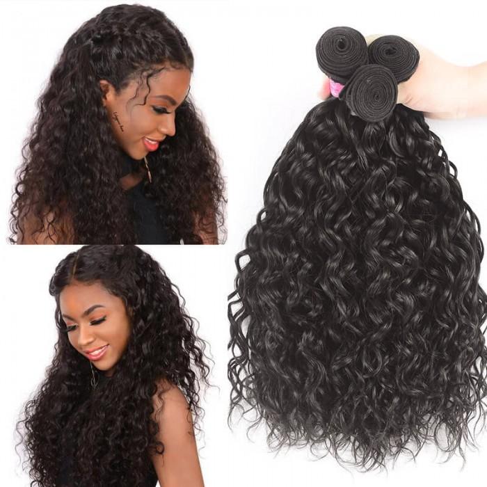Flash Deal 3 Bundles Water Wave Virgin Human Hair Icenu Series