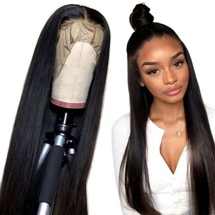 Unice Straight Full Lace Human Hair Wigs 150% And 180% Density Remy Hair Wig For African American Women 14-26 Inch Bettyou Series