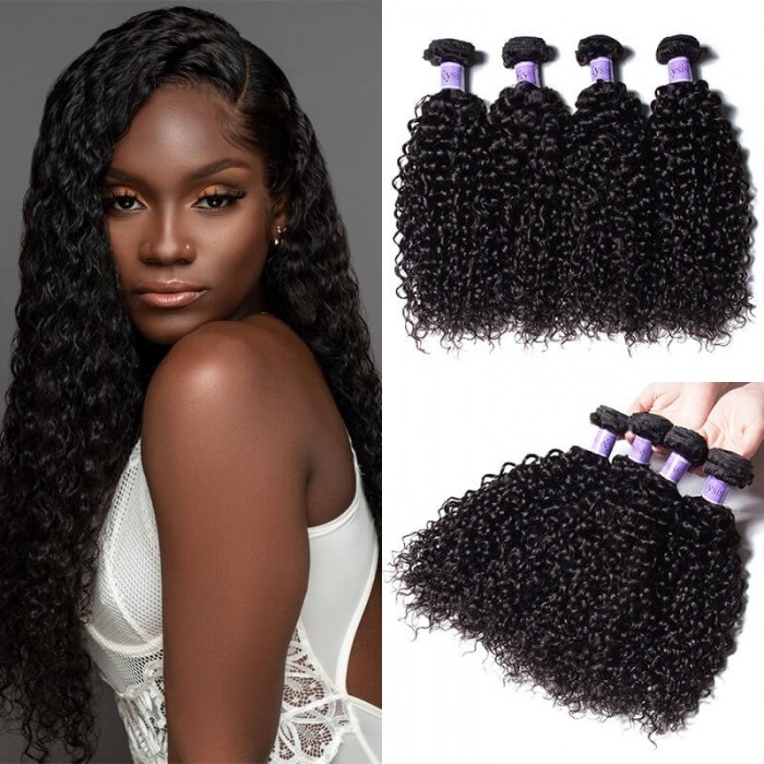 UNice Hair Kysiss Series 4 Bundles Brazilian Jerry Curly Human Virgin+ Hair