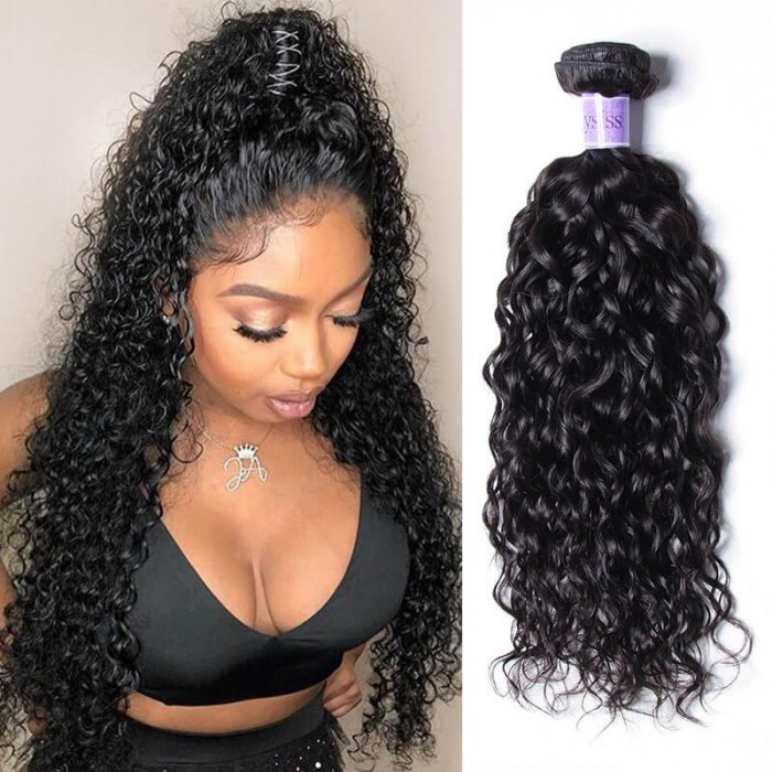 UNice Hair Kysiss Series 1 Piece Water Wave Virgin+ Human Hair Extension