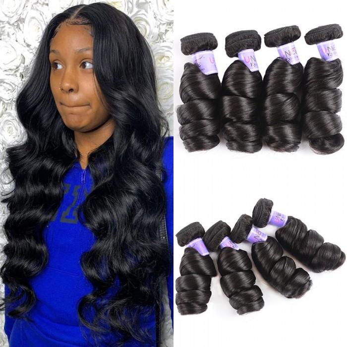 UNice Hair Kysiss Series 4 Pcs/pack Hair Brazilian Loose Wave Virgin Hair